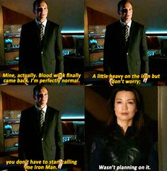 "Agents of Shield...Oh Phil! So funny! Oh wait, your first name is ""agent."" Lol"