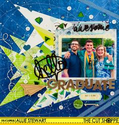 Hello Graduate by Allie Stewart uses This Way and Flash  Cards cut files by The Cut Shoppe