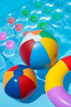 Throw large beach balls and floats in the pool for easy party decorations.