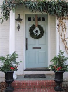 Benjamin Moore Stratton Blue Cute front door color!