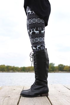 Reindeer Sweater Leggings - UOIONLINE.COM ;;; love these but they're sold out in my size :( -m
