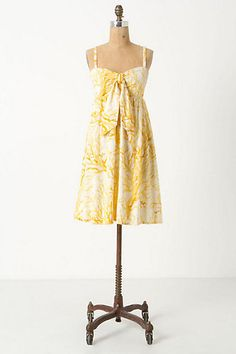 Anthropologie Tied Spicifera Dress by HD in Paris Yellow Coral