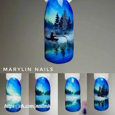 Trendy Nails Winter Tips Art Tutorials Ideas Christmas Nail Designs, Christmas Nail Art, Winter Nails, Summer Nails, Nail Drawing, Nail Polish Stickers, Wedding Manicure, Seasonal Nails, New Nail Designs