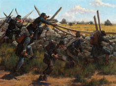 Vermont Sharpshooters at Gettysburg by Keith Rocco