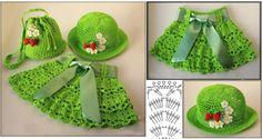 Bellisimo patrón de falda y sombrero