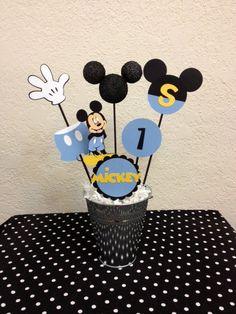 Centro de mesa cumpleaños Mickey Mouse  o Baby Shower de bebé