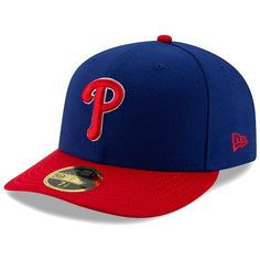 29b563bc4c2 Men s Philadelphia Phillies New Era Royal Red Alternate Authentic  Collection On-Field Low Profile 59FIFTY Fitted Hat