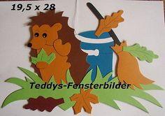 Teddys Fensterbilder 516 ´ Igel sammelt Laub` Tonkarton