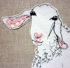 Floppy ear goat Kristy Yelson at Sixty One A, Cornwall, UK Spots of applique…