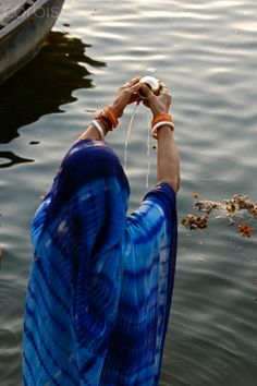 Offering to the Ganges, India