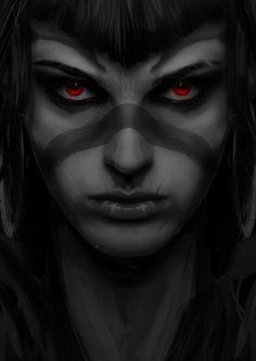 ArtStation - Shaman red eyes, Gary jamroz-palma