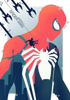 Marvel's Spider-Man - PosterSpy Marvel Comics, Marvel Heroes, Marvel Avengers, Ms Marvel, Captain Marvel, All Spiderman, Amazing Spiderman, Parker Spiderman, Character Drawing