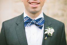 Nautical Striped Kansas Wedding - Striped tie