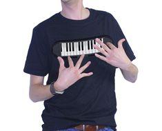 Un tshirt pour jouer du Piano ! Un cadeau pour musicien