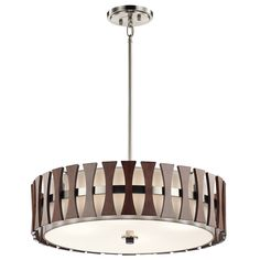 Kichler 43753AUB Cirus Modern Auburn Stained Drum Pendant Lighting Fixture - KIC-43753AUB