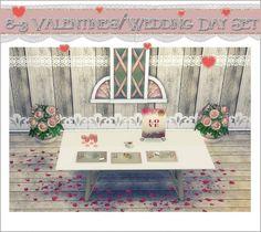 Sims 4 Designs: Valentine's - Wedding Day Set • Sims 4 Downloads