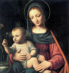 Bernardino Luini (Northern Italian painter, c 1480-2-1532)The Madonna of the Carnation