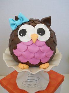 Owl Cake - by inspiredcakedesigns @ CakesDecor.com - cake decorating website