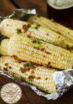Grilled Cheddar-Bacon Corn on the Cob: Prep Time: 20 Minutes Cook Time: 30 Minutes Makes: 6 Servings