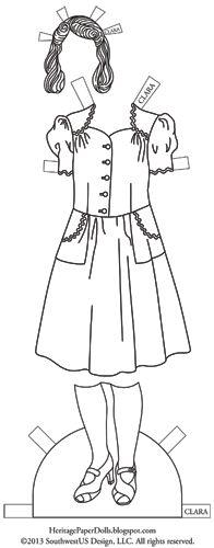 Heritage Paper Dolls: 1940-е годы. Платье Клары