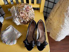 Lace Valentino heels. Photo by Sakura Photography.