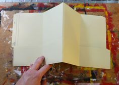 How to make a file folder journal/book! Would even work well for home organization, keeping track of receipts etc.