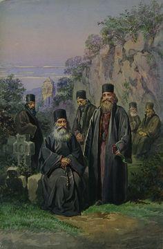 Amedeo Preziosi - Monks from Bistrita Monastery