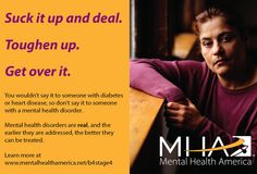 Be supportive, get educated, and bring awareness to mental health issues. #B4Stage4 #MIAW14 http://www.mentalhealthamerica.net/MIAW2014
