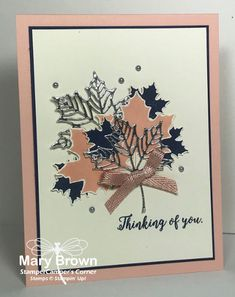 Thinking of You by stampercamper - Cards and Paper Crafts at Splitcoaststampers Halloween Cards, Fall Halloween, Monday Inspiration, Thanksgiving Cards, Get Well Cards, Cata, Fall Cards, Autumn Theme, Card Sketches