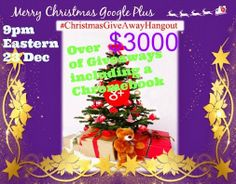 Merry Christmas everyone please join our #ChristmasGiveawayHangout https://plus.google.com/u/0/events/cpg1s5f7eap62i1r53k1gahvsis