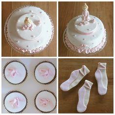 Bailarina de ballet ... torta, cupcakes y cookies