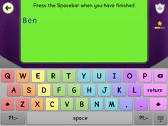 Spell Trekking Keyboard by Centra Dyslexia. App is free on iTunes!