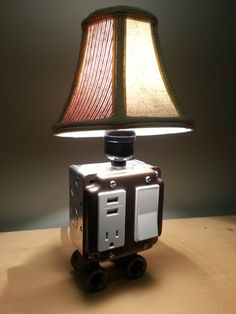Table or desk lamp with USB charging station phone by BossLamps, $80.00