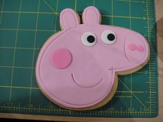 Peppa Pig Cookies ready to get packaged.