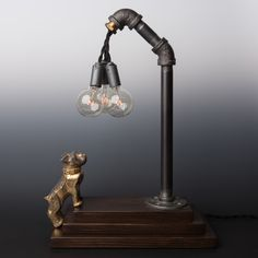 MACK Bulldog // Touch Sensor Lamp – Brass | Luke Hobbs Design