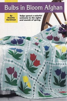 Tulips Afghan Crochet Pattern - Perfect for Easter and Spring!