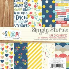 """7026 Sn@p Life Documented 6"""" Paper Pad $9.25"""