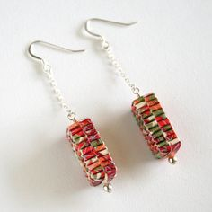 Blossom and Shine Woven Paper Earrings | Flickr - Photo Sharing!