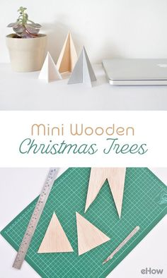 Introduce some modern, handmade decorations into your home this year! Create festive decorations with the right balance of contemporary style and festive tradition with this simple DIY project. These easy-to-make mini wooden Christmas trees look great displayed on a mantle, a coffee table or even on a desk. http://www.ehow.com/how_12343637_diy-mini-wooden-christmas-trees.html?utm_source=pinterest.com&utm_medium=referral&utm_content=freestyle&utm_campaign=fanpage