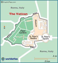 Vatican Large Color Map