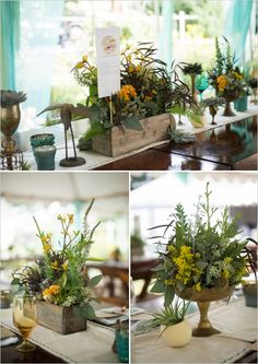 Fish and Bird rustic table centerpiece ideas