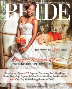 Black Bride Magazine Power of Love Issue Vol.1 is now available for your viewing pleasure! Get your copy today! Cover girl: Track Star/four time Gold Olympic Medalist, Entreprenuer, Business Woman and Television Personality, Sanya Richards Ross Photography: Will Sterling
