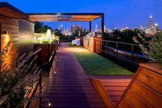 roof top wooden deck
