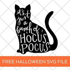 FREE Halloween SVG - Hocus Pocus SVG by Pineapple Paper Co. Make a DIY Halloween Tote Bag and other Halloween Decorations hocuspocus halloweenparty trickortreat diypartyideas cricutmade halloweendecor trickortreattote freesvg svgfile 264586546845506975 Halloween Poster, Halloween Quotes, Disney Halloween, Halloween Projects, Halloween Cat, Halloween Vinyl, Diy Halloween Shirts, Rustic Halloween, Halloween Witches