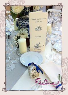 Menu By Féeline création Mariage, baptême, www.feelinecreation.com, menu, dragée, cadeaux invités, marque-place, livret de cérémonie, fleur, livre d'or, boite cadeau, urne, plan de table, coussin alliance, dentelle, retro, champêtre, romantique .... Wedding invitation, save the date
