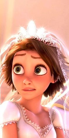 Tangled - Pretty  sure I am this same face at my wedding. Not because I was worried about getting married but because I was too overwhelmed with how many people were looking at me.
