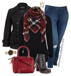 Plus Size Fashion - Winter Scarf by alexawebb on Polyvore featuring Old Navy, Circus By Sam Edelman, Burberry, Michael Kors, Kate Spade, outfit, plus, size and alexawebb