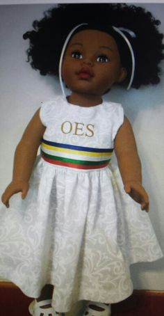 OES Eastern Star doll. What a beautiful doll!