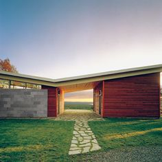 classic mcm butterfly roof.   Modern Dogtrot.