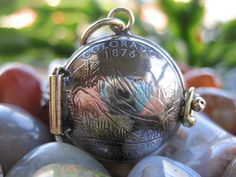 Colorado State Quarter Locket Pendant MADE TO by AutopilotEmpires, $60.00